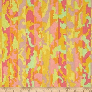 Ткань 45х55 см - Rowan - Полосатый камуфляж - Весна